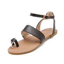 Load image into Gallery viewer, Women Sandals Toe Strap Flats Shoes