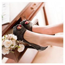 Load image into Gallery viewer, Lace Platform Sandals Peep Toes Mesh Women Pumps High Heels Spike Shoes Woman