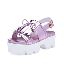 Load image into Gallery viewer, Tassel Sandals Women Platform High-heeled Shoes Woman