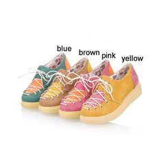 Load image into Gallery viewer, Women Wedges Casual Lace Up Color Macth Platform Shoes 6045