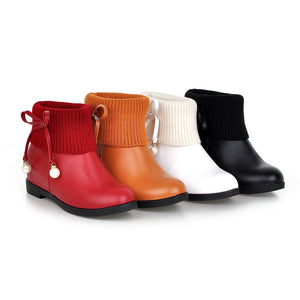 Wool Ankle Boots Women Shoes Fall|Winter 7196