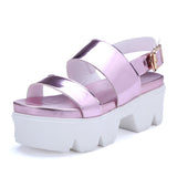 Buckle Wedges Sandals Women Platform Shoes Woman
