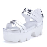 Bright Sandals Women Wedges Platform High-heeled Shoes Woman