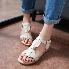 Load image into Gallery viewer, Summer Sandals Flat Shoes Woman Size 34-39
