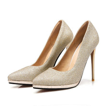 Load image into Gallery viewer, Sey Pointed Toe Platform Stiletto Heel Ultra High Heels Wedding Shoes 4298