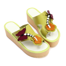 Load image into Gallery viewer, Women Slippers Flip Flop Butterfly Wedges Shoes Woman 1545