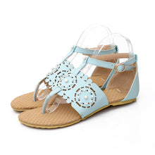 Load image into Gallery viewer, Fashion Flats Sandals Buckle Pearl Women Shoes 6091