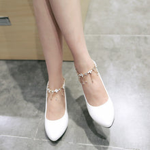 Load image into Gallery viewer, Rhinestone Women Pumps Ankle Straps High Heels Shoes Woman
