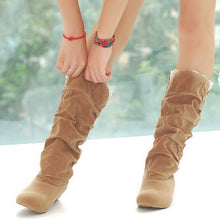 Load image into Gallery viewer, Artificial Suede Women Knee High Boots Wedges Shoes Woman 2016 3388
