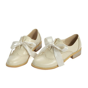 Casual Ribbons Bow Oxfords Women Shoes 1499