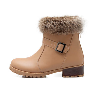 Rabbit Fur Snow Boots Women Shoes Fall|Winter 7308