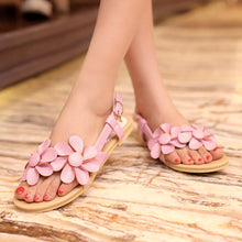 Load image into Gallery viewer, Flower Ankle Strap Flat Sandals Women Shoes 4794