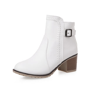 Buckle Ankle Boots High Heels Women Shoes Fall|Winter 8576