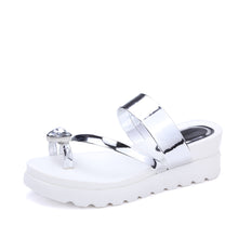 Load image into Gallery viewer, Women Sandals Toe Strap Platform Slipper Shoes