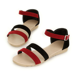 Fashion Sandals Women Flats Ankle Straps Shoes 4857