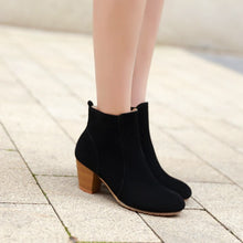 Load image into Gallery viewer, Ankle Boots High Heels Zipper Shoes Woman 3334