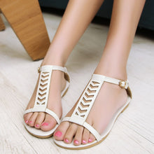Load image into Gallery viewer, Summer Gladiator Sandals Flats Shoes Woman