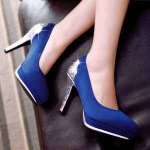 Sequined Women Platform Pumps High Heels Shoes Woman
