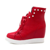 Studded Wedges Boots Women Shoes New Arrival