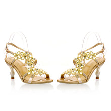 Load image into Gallery viewer, Fashion-Rhinestone-High-Heels-Sandals-Women-Pumps-Spike-Shoes 3894