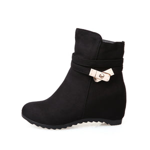 Metal Buckle Ankle Boots Women Shoes Fall|Winter 3247