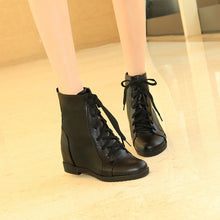 Load image into Gallery viewer, Women Wedges Ankle Boots Lace Up Platform Shoes Woman 2016 3589