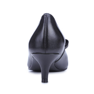 Women's Pumps Bow Genuine Leather High Heels Dress Shoes