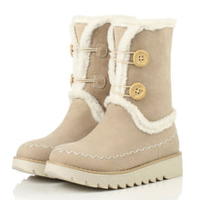 Load image into Gallery viewer, Snow Boots with Button Platform Winter Fur Shoes Woman 3271 3271
