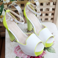 Load image into Gallery viewer, Peep Toes Platform Sandals Ankle Straps Women Pumps High Heels Shoes Woman