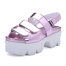 Load image into Gallery viewer, Velcro Wedges Sandals Women Pumps Platform High-heeled Shoes Woman