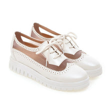 Load image into Gallery viewer, Lace Up Breathable Mesh Flats Platform Oxfords Shoes 6818