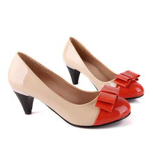 Load image into Gallery viewer, Women Pumps Patent Leather Bow High Heels Shoes Woman 1720