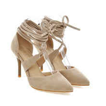 Load image into Gallery viewer, Women Sandals Straps Pointed Toe Pumps High-heeled Shoes