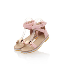 Load image into Gallery viewer, Metal-Flats-Sandals-Women-Shoes 5904
