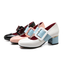 Load image into Gallery viewer, Women High Heels Shoes Square Toe Pumps 2081