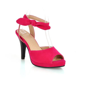 Bow-High-Heels-Sandals-Women-Pumps-Shoes 9428