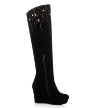 Load image into Gallery viewer, Zipper Knee High Boots Wedges Shoes Fall|Winter 9269