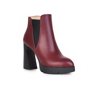 Pointed Toe Ankle Boots High Heels Women Shoes Fall|Winter 6297