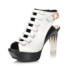 Load image into Gallery viewer, Fashion-High-Heels-Gladiator-Sandals-Women-Pumps-Platform-Shoes 2499