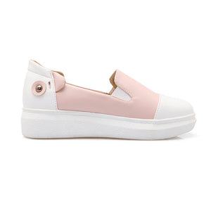 Mixed Colors Casual Women Loafers Platform Shoes