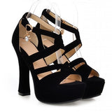 Ankle Straps Platform Sandals Women Pumps Gladiator Sandals High Heels Shoes Woman