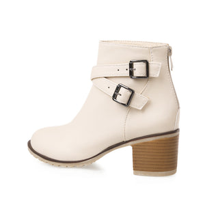 Ankle Boots with Buckle High Heels Women Shoes Fall|Winter 8977
