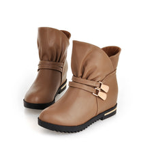 Load image into Gallery viewer, Buckle Women Ankle Boots Wedges Platform Shoes Woman 2016 3393