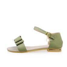 Load image into Gallery viewer, Bow Women Sandals Flats Ankle Straps Shoes 4187