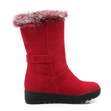 Load image into Gallery viewer, Rabbit Fur Snow Boots Women Shoes Winter 4771