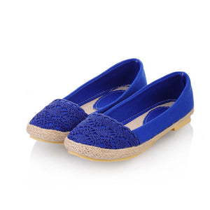 Knit Women Flats Round Toe Shoes Loafers