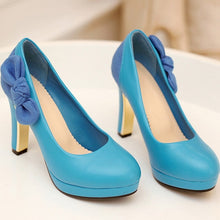 Load image into Gallery viewer, Bowtie Women Platform Pumps High Heels Shoes Woman