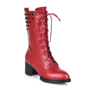 Pointed Toe Studded Boots High Heels Women Shoes Fall|Winter 1091