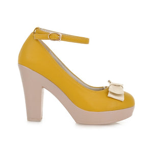 Ankle Straps Bow Women Pumps High Heels Platform Shoes 2013