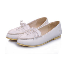 Load image into Gallery viewer, Lace Up Flats Women Shoes 6678